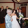 Photo Op with Nona following the wedding