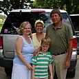 Carolyn, Landon and Ray [with cousin Barbara]