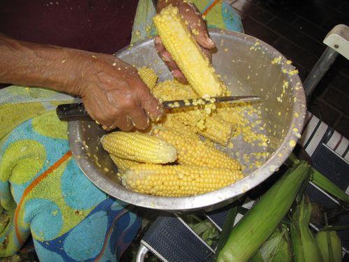 Hannah, Corn, Fish 2010 002