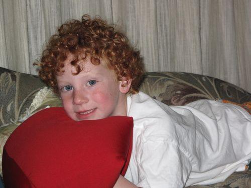 Red Circle Hair Boy -- Sam  2009