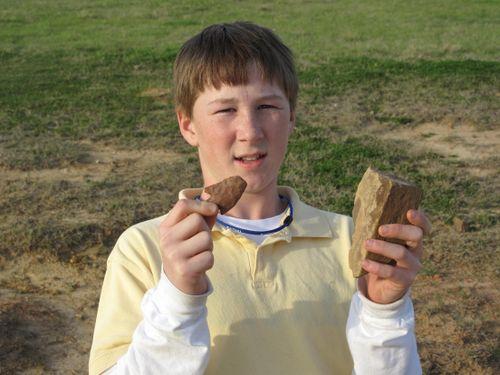 Graham and his arrowhead