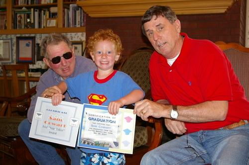 Sam with Papaw H and Papa 2007